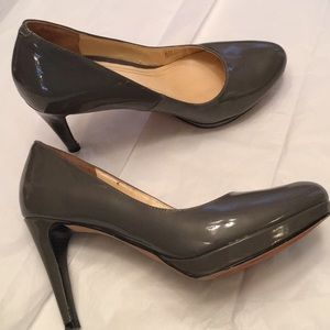 Cole Haan Gray Patent Leather Nike Air Heels